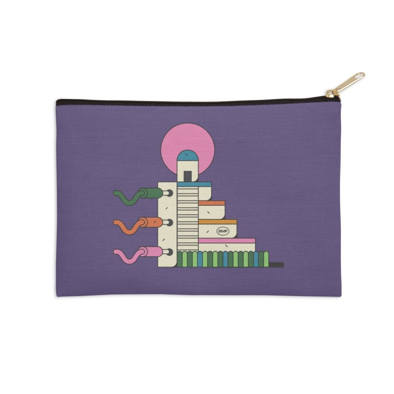 Mayan synth temple Accessories Zip Pouch by Super Magic Friend Store