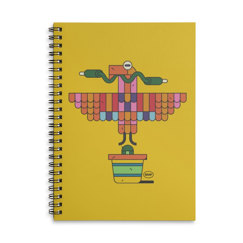 Analogtitlan Accessories Lined Spiral Notebook by Super Magic Friend Store