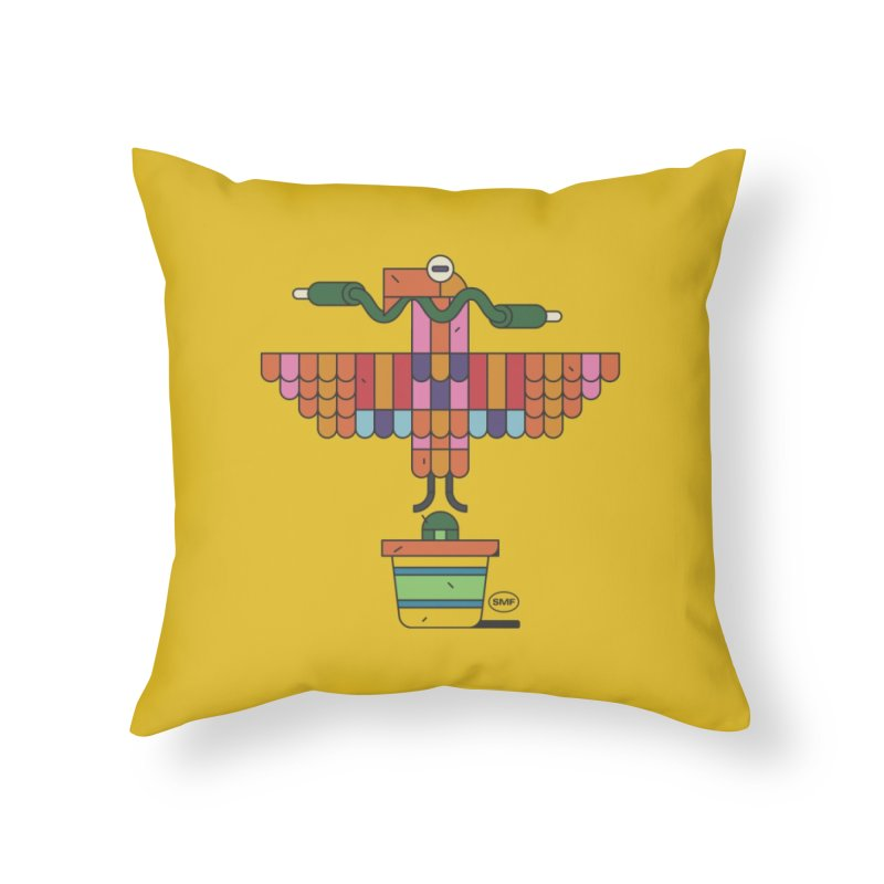 Analogtitlan Home Throw Pillow by Super Magic Friend Store