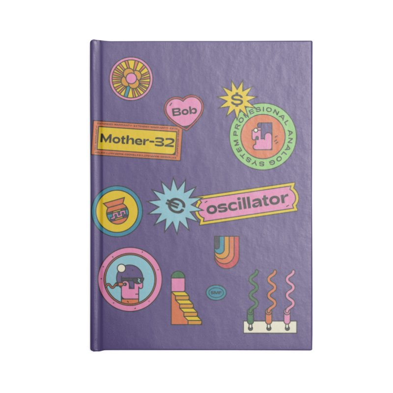 Patchs Accessories Lined Journal Notebook by Super Magic Friend Store