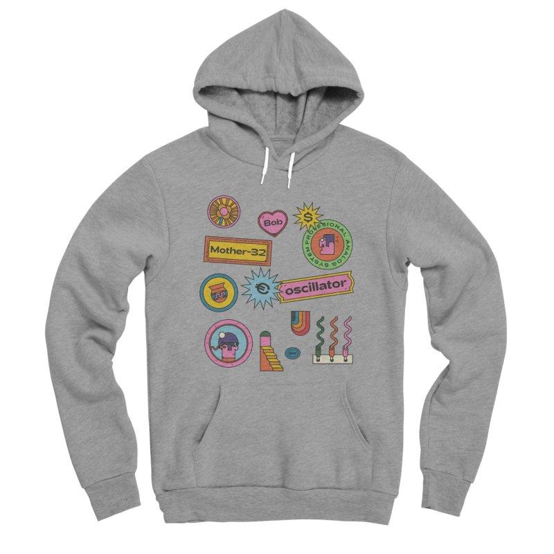 Patchs Men's Sponge Fleece Pullover Hoody by Super Magic Friend Store