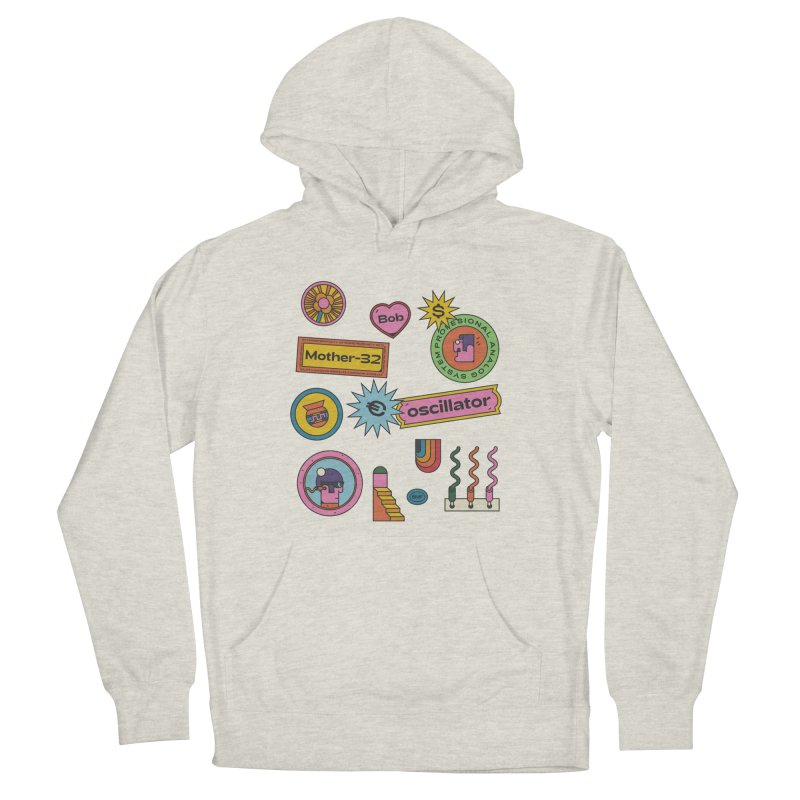 Patchs Women's French Terry Pullover Hoody by Super Magic Friend Store
