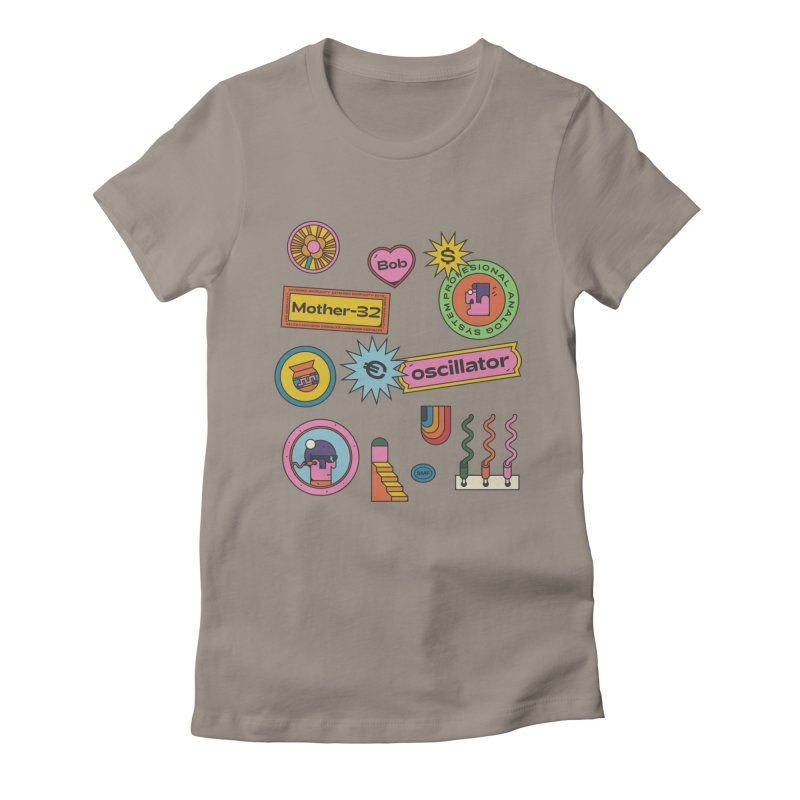 Patchs Women's Fitted T-Shirt by Super Magic Friend Store