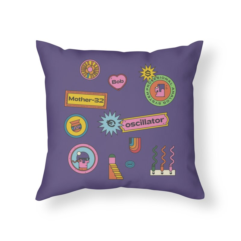 Patchs Home Throw Pillow by Super Magic Friend Store