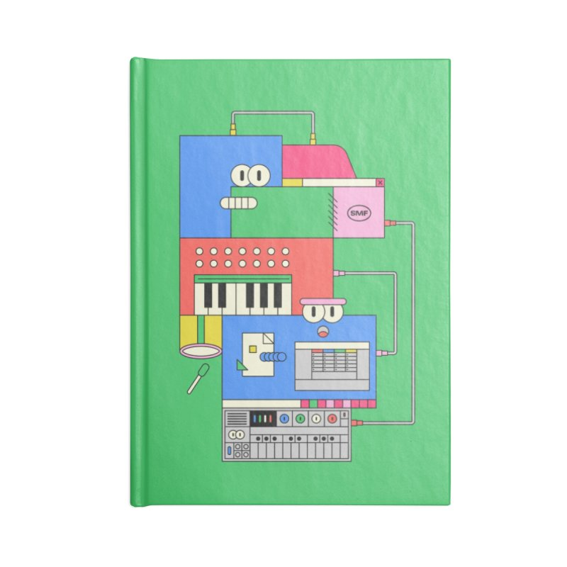 SYNTH Accessories Lined Journal Notebook by Super Magic Friend Store