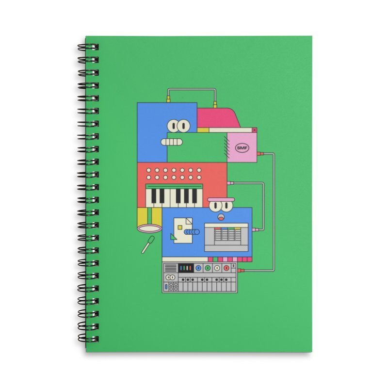 SYNTH Accessories Lined Spiral Notebook by Super Magic Friend Store
