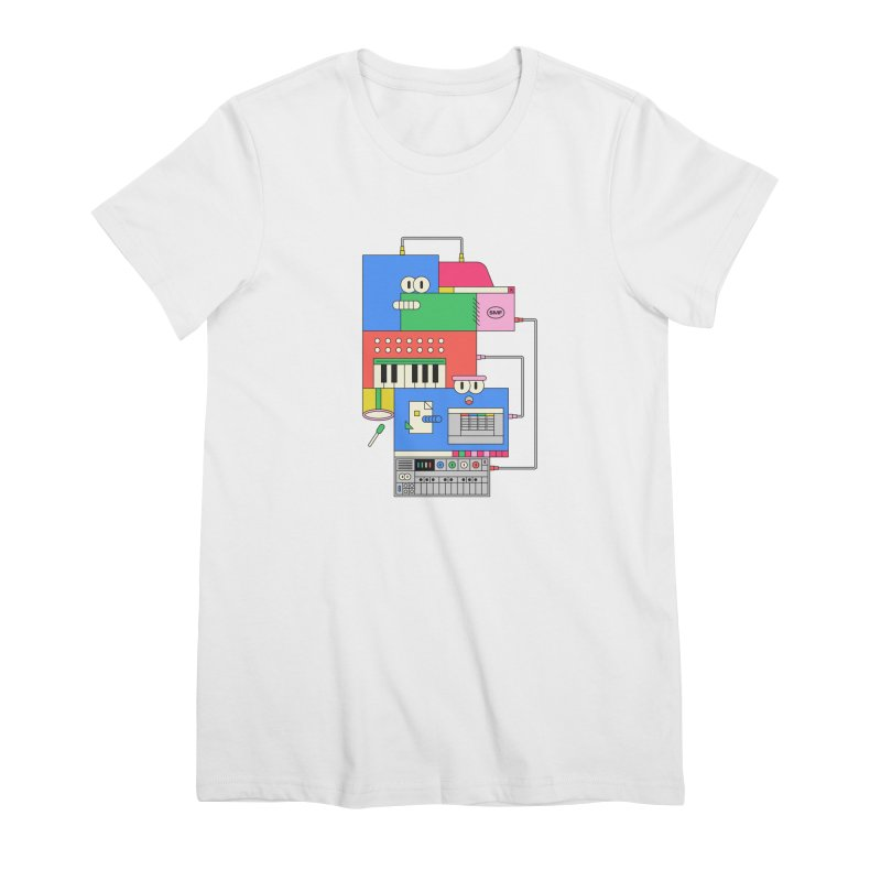 SYNTH Women's Premium T-Shirt by Super Magic Friend Store
