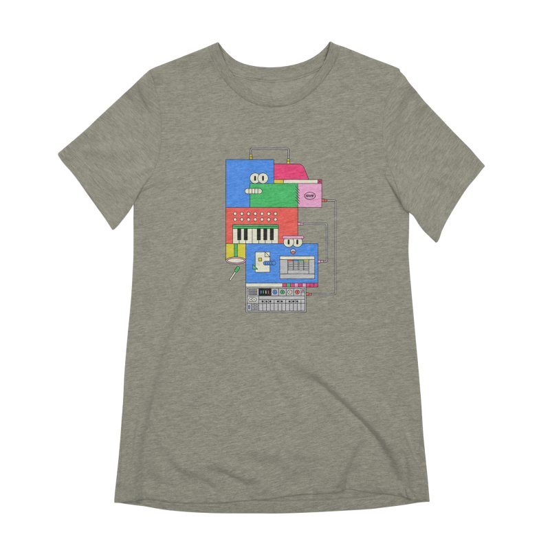 SYNTH Women's Extra Soft T-Shirt by Super Magic Friend Store