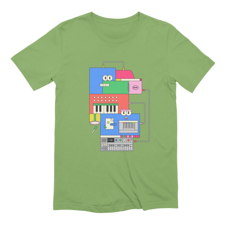 SYNTH Men's Extra Soft T-Shirt by Super Magic Friend Store