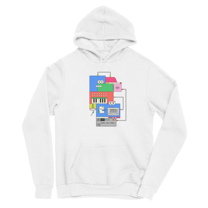 SYNTH Men's Pullover Hoody by Super Magic Friend Store