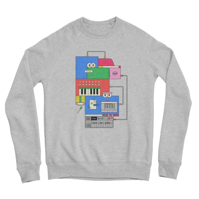 SYNTH Men's Sponge Fleece Sweatshirt by Super Magic Friend Store