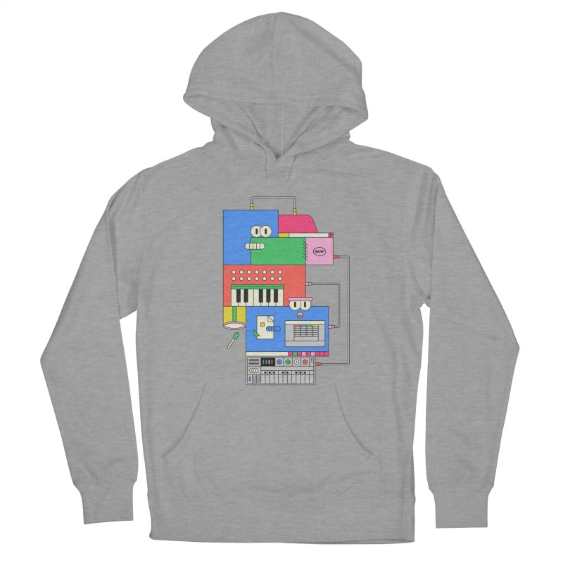 SYNTH Women's French Terry Pullover Hoody by Super Magic Friend Store