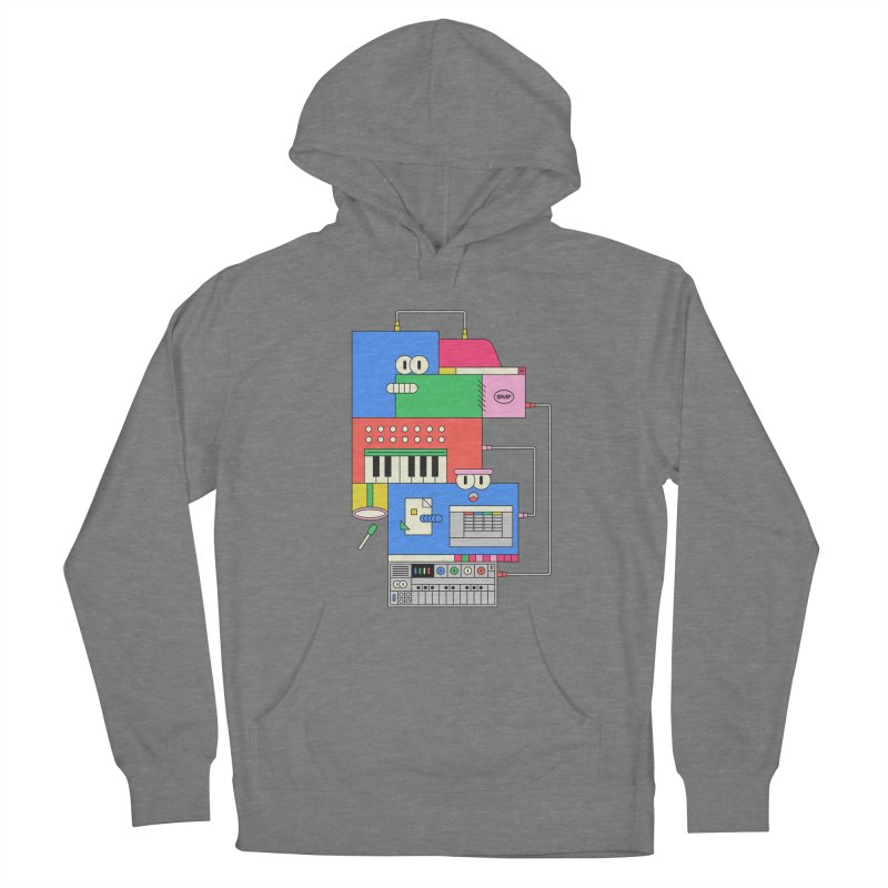 SYNTH Men's French Terry Pullover Hoody by Super Magic Friend Store