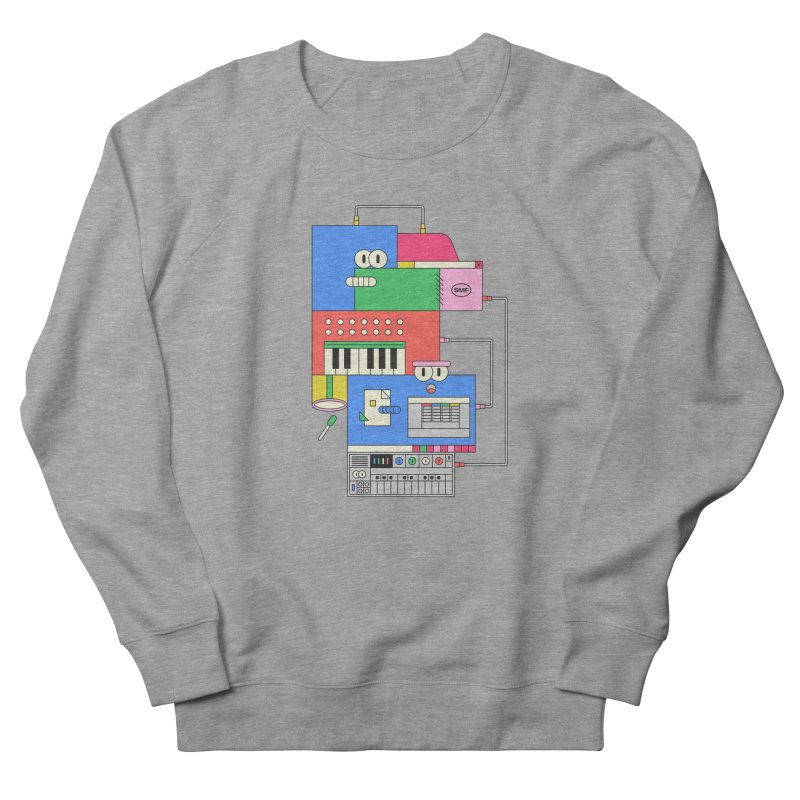 SYNTH Men's French Terry Sweatshirt by Super Magic Friend Store