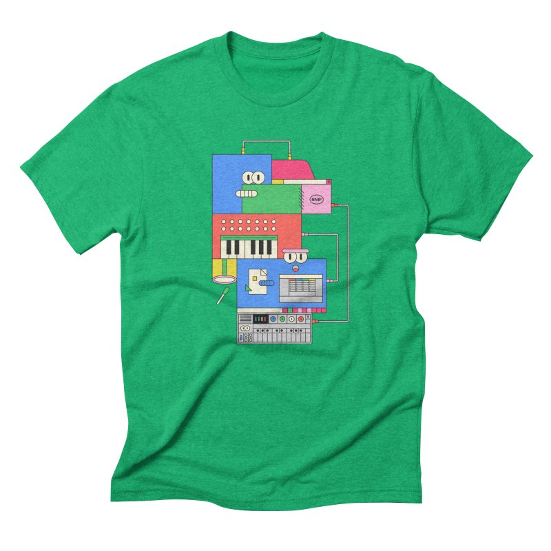 SYNTH Men's Triblend T-Shirt by Super Magic Friend Store