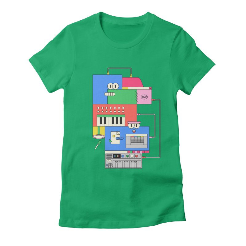 SYNTH Women's Fitted T-Shirt by Super Magic Friend Store