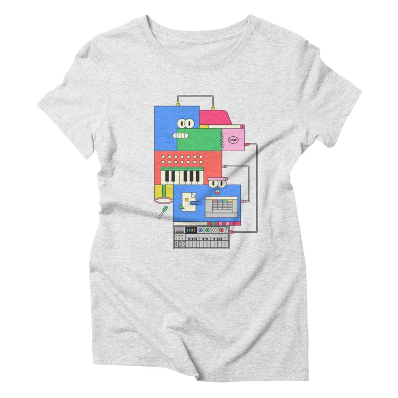 SYNTH Women's Triblend T-Shirt by Super Magic Friend Store