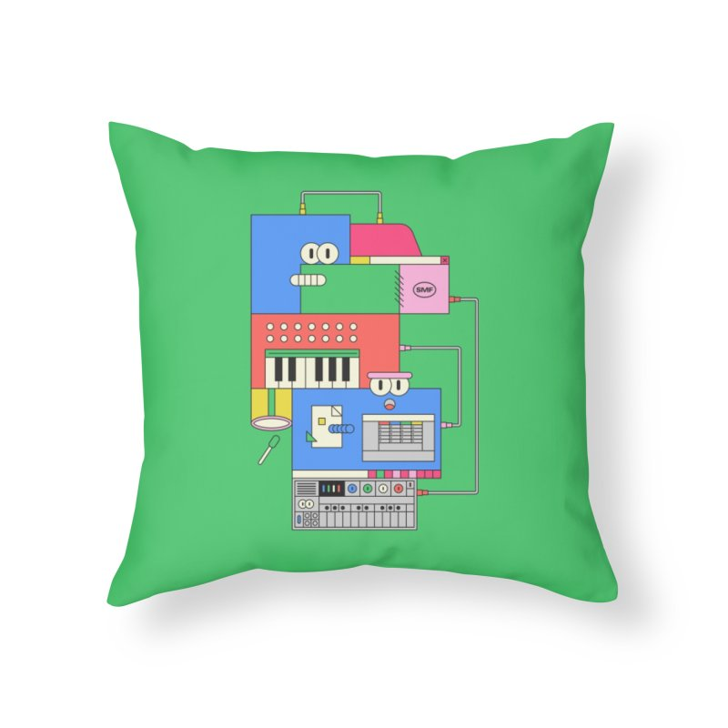 SYNTH Home Throw Pillow by Super Magic Friend Store