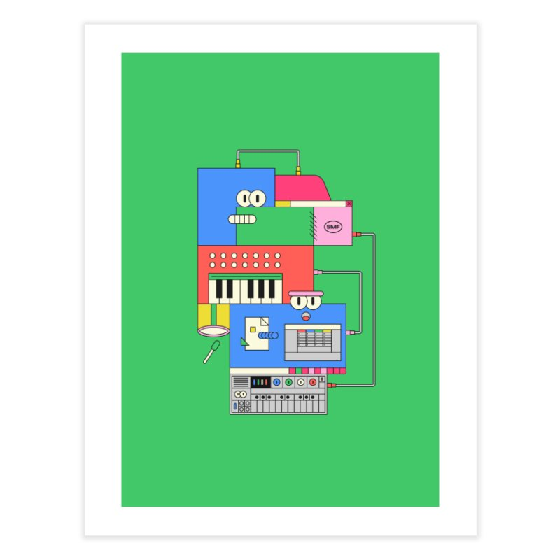 SYNTH Home Fine Art Print by Super Magic Friend Store