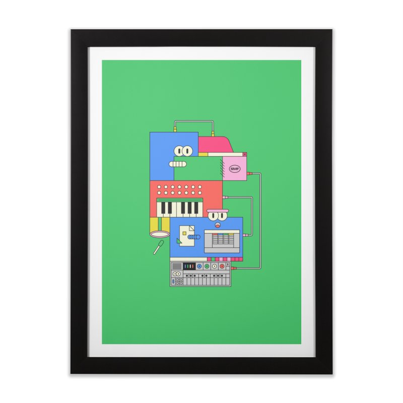 SYNTH Home Framed Fine Art Print by Super Magic Friend Store