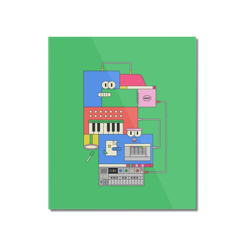 SYNTH Home Mounted Acrylic Print by Super Magic Friend Store