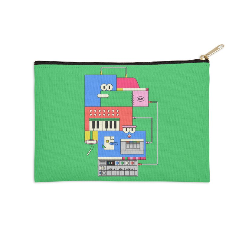 SYNTH Accessories Zip Pouch by Super Magic Friend Store