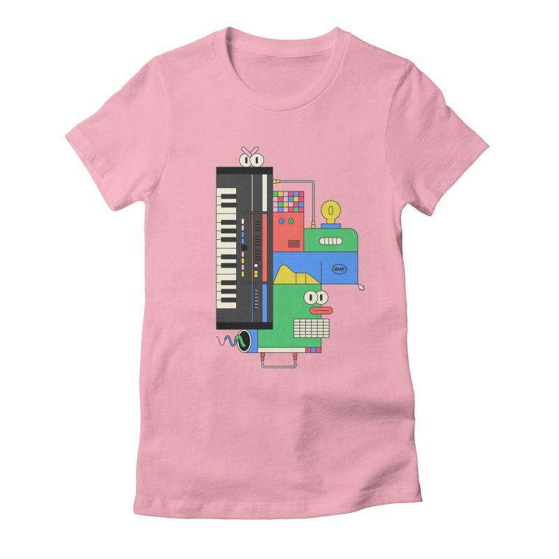 JUN106 Women's Fitted T-Shirt by Super Magic Friend Store