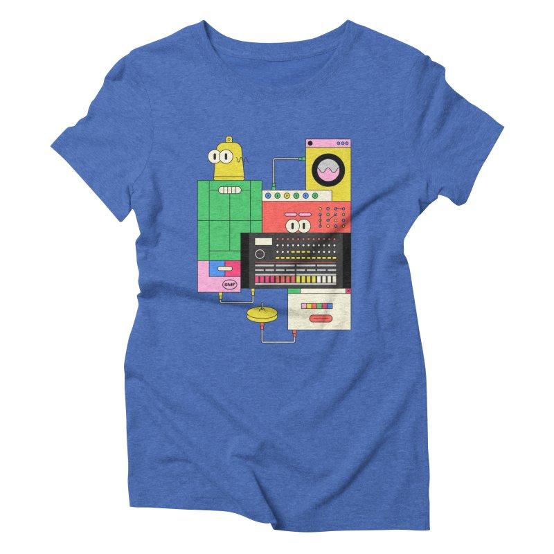 COWBELL Women's Triblend T-Shirt by Super Magic Friend Store