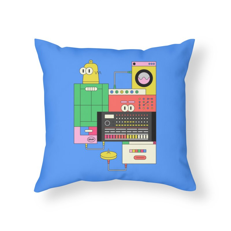 COWBELL Home Throw Pillow by Super Magic Friend Store