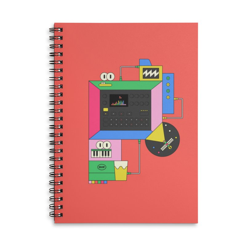DKAKT Accessories Lined Spiral Notebook by Super Magic Friend Store