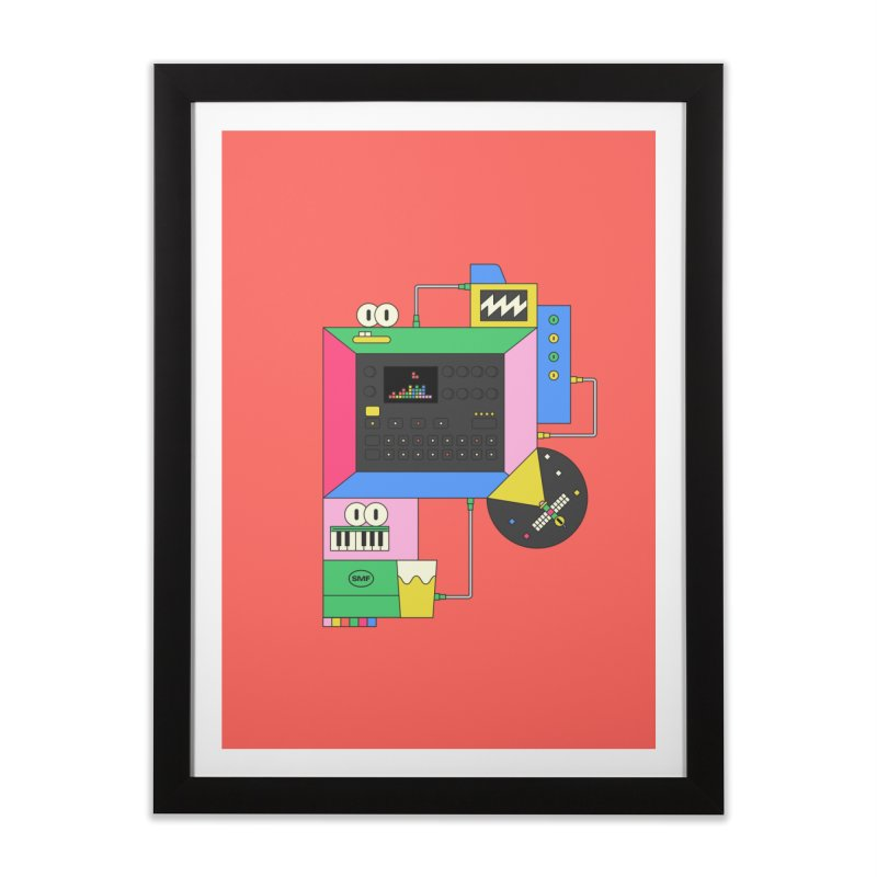 DKAKT Home Framed Fine Art Print by Super Magic Friend Store