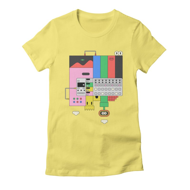 BEAT STEP BROS Women's Fitted T-Shirt by Super Magic Friend Store