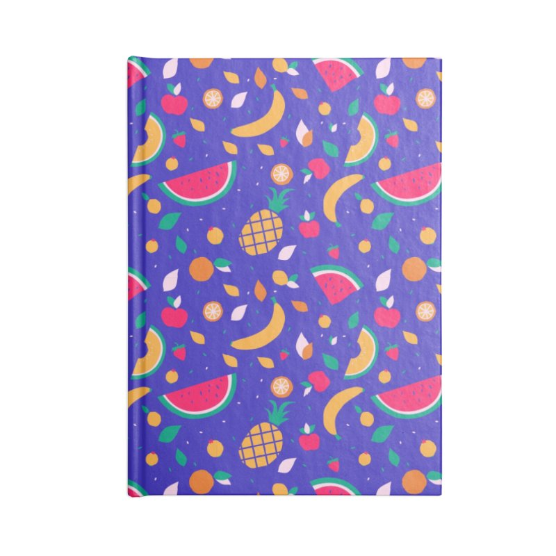 RICA FRUTA Accessories Lined Journal Notebook by Super Magic Friend Store