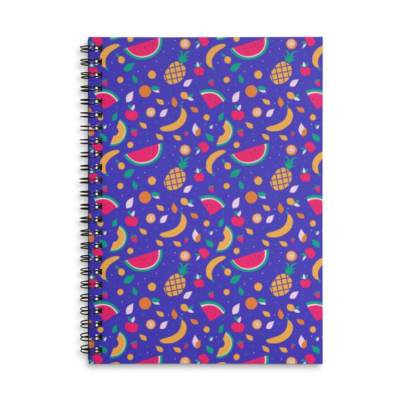 RICA FRUTA Accessories Lined Spiral Notebook by Super Magic Friend Store