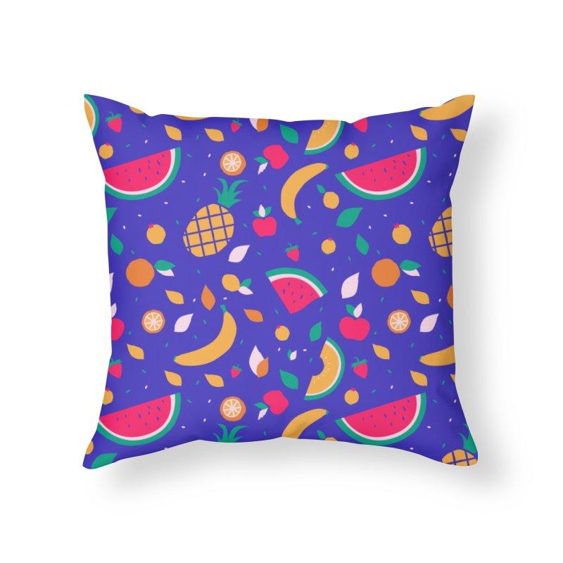 RICA FRUTA Home Throw Pillow by Super Magic Friend Store