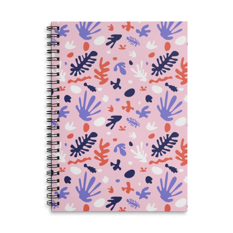 COLLAGE Accessories Lined Spiral Notebook by Super Magic Friend Store