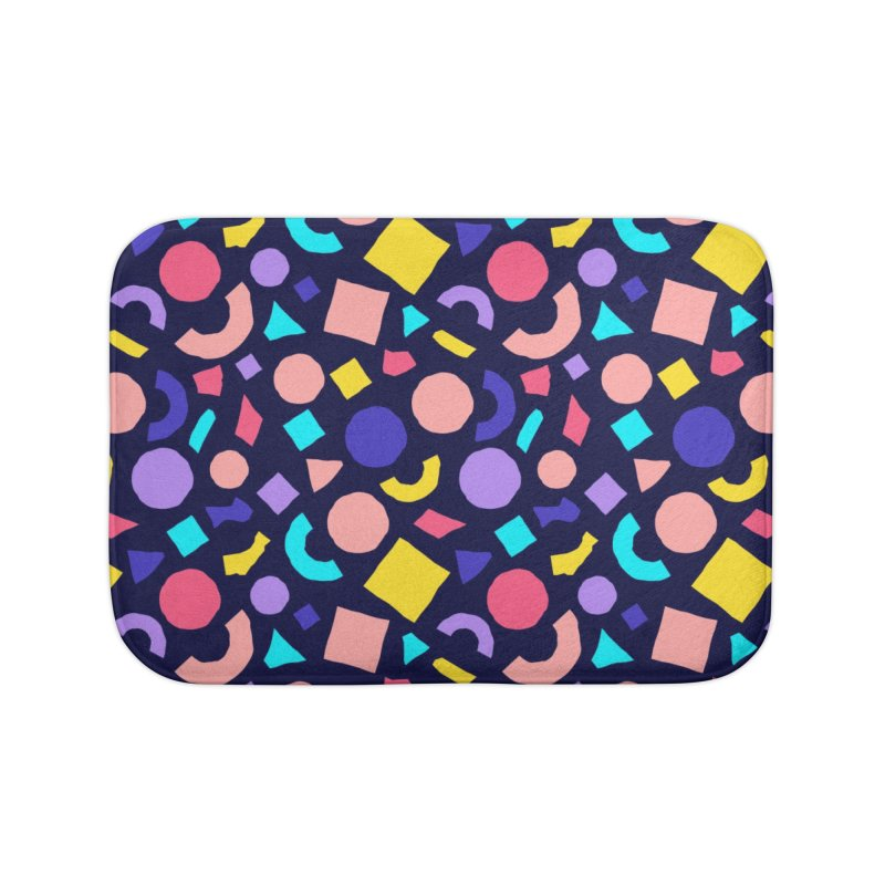 COLOR AND SHAPES Home Bath Mat by Super Magic Friend Store