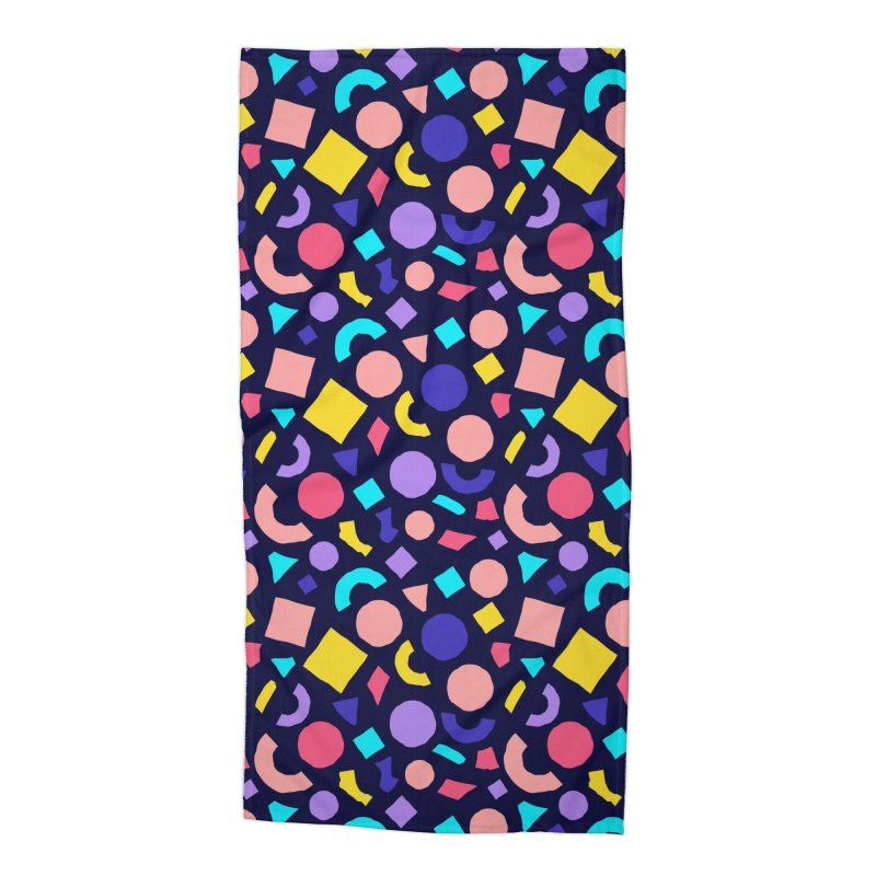 COLOR AND SHAPES Accessories Beach Towel by Super Magic Friend Store