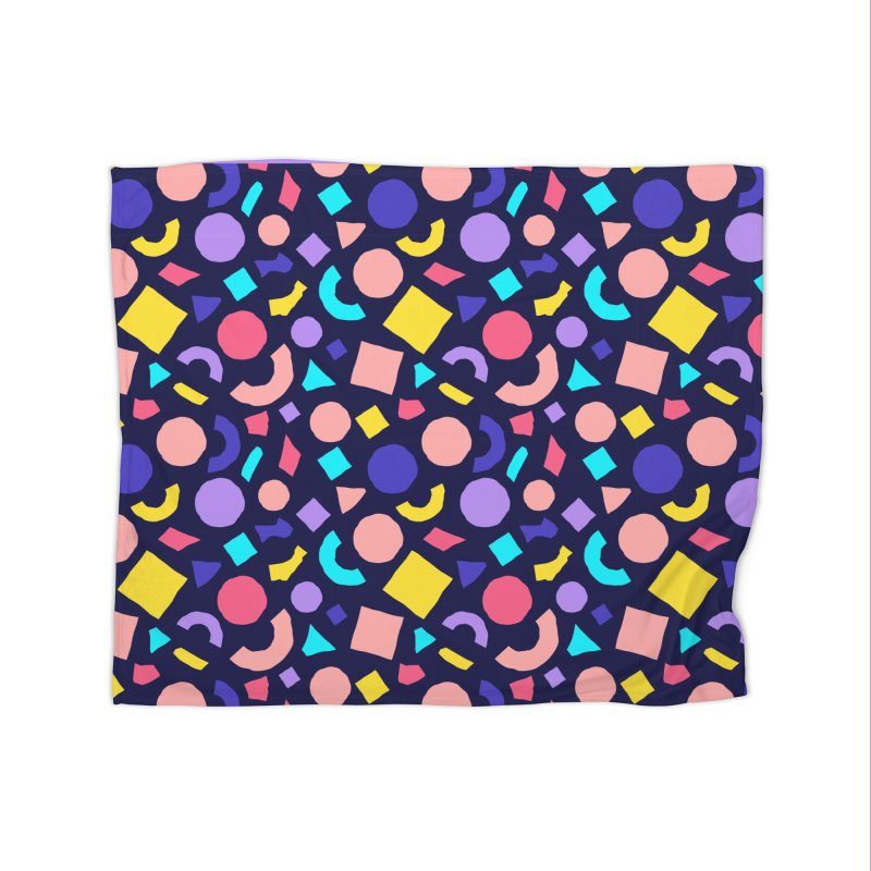 COLOR AND SHAPES Home Fleece Blanket Blanket by Super Magic Friend Store