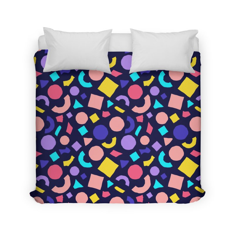 COLOR AND SHAPES Home Duvet by Super Magic Friend Store