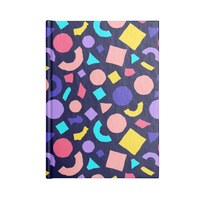 COLOR AND SHAPES Accessories Blank Journal Notebook by Super Magic Friend Store