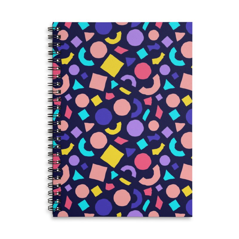 COLOR AND SHAPES Accessories Lined Spiral Notebook by Super Magic Friend Store