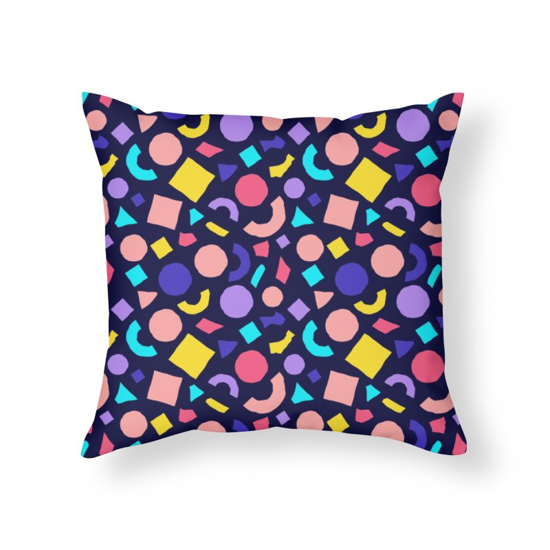 COLOR AND SHAPES Home Throw Pillow by Super Magic Friend Store