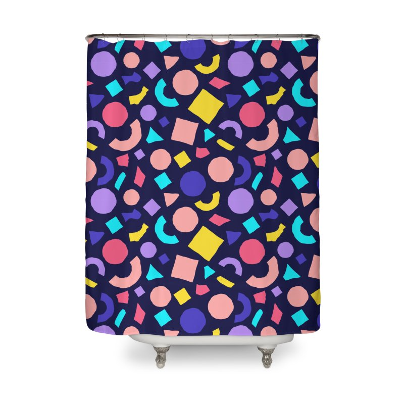 COLOR AND SHAPES Home Shower Curtain by Super Magic Friend Store