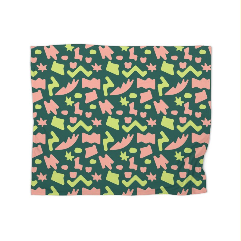 Neon garden Home Fleece Blanket Blanket by Super Magic Friend Store