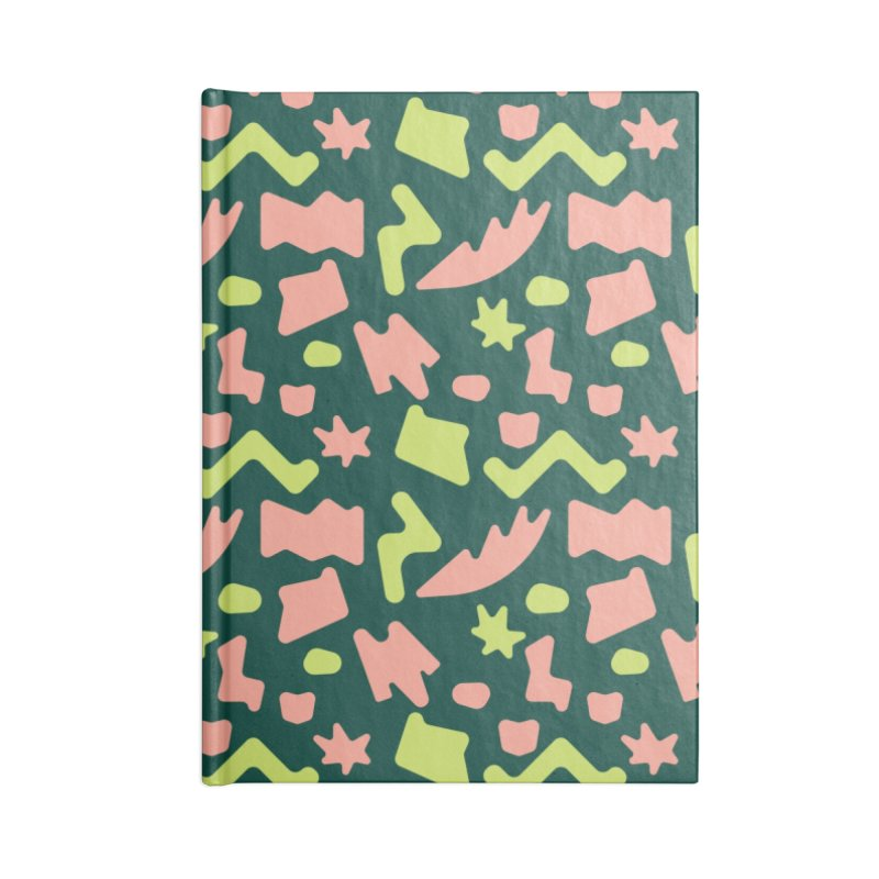 Neon garden Accessories Blank Journal Notebook by Super Magic Friend Store