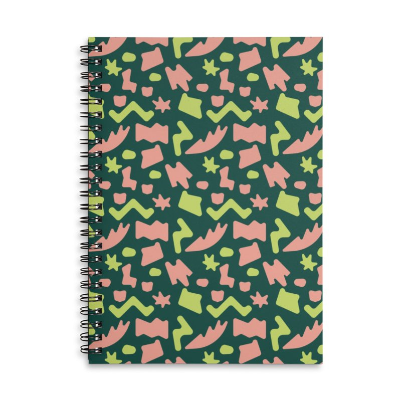Neon garden Accessories Lined Spiral Notebook by Super Magic Friend Store