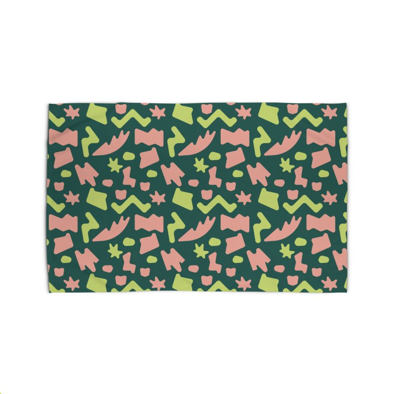 Neon garden Home Rug by Super Magic Friend Store