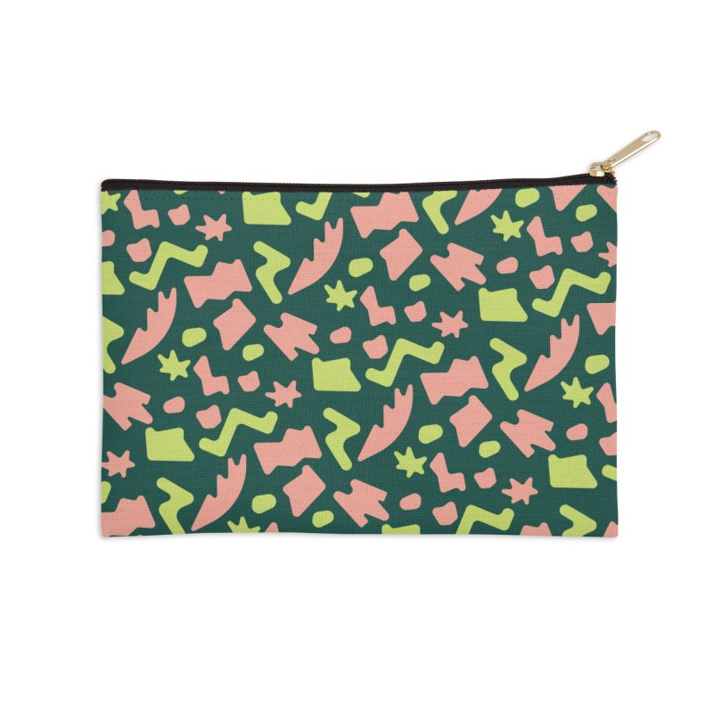 Neon garden Accessories Zip Pouch by Super Magic Friend Store