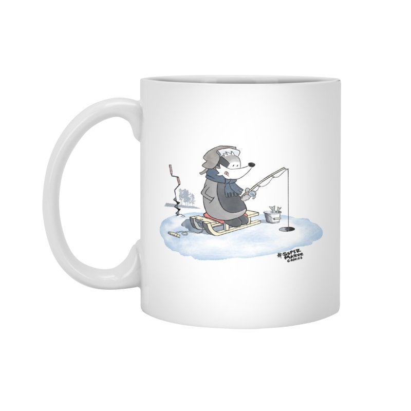 Ice Fishing Badger Accessories Mug by Super Marve Shop